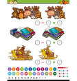 substraction game cartoon vector image