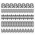 abstract seamless ballpoint waves borders set vector image vector image
