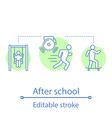 after school activities concept icon