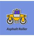 asphalt roller color flat icon vector image vector image