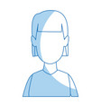 avatar of woman character portrait female vector image vector image