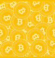 bitcoin internet currency coins seamless pattern vector image