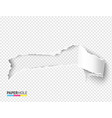 blank torn paper hole with rip edges vector image vector image