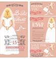 Bridal shower wedding cardsBridedecoration vector image vector image