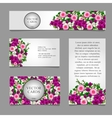 cards with white and pink flower vector image vector image