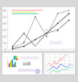 charts and graphics data set vector image vector image