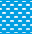 code window pattern seamless blue vector image vector image