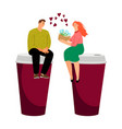 coffee dating couple vector image vector image