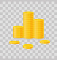 coins stack icon flat finance vector image vector image