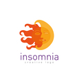 Creative logo on insomnia vector image