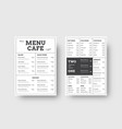 design menu for cafes and restaurants with the vector image vector image