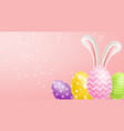 easter traditional colorful eggs realistic vector image vector image