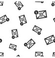 email envelope message seamless pattern vector image