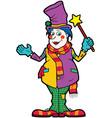 friendly clown vector image vector image