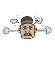 furious face doodle vector image vector image