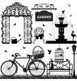 garden park recreational a set of garden stuffs vector image vector image