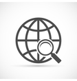 Global search sign icon vector image vector image