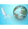 green energy wind turbines vector image vector image