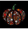Halloween pumpkin in social media icons vector image vector image