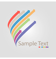 high tech and communications logo vector image vector image