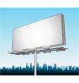 highway ad billboard roadside vector image vector image