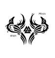 huginn and muninn odins ravens vector image vector image