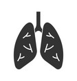 human lungs glyph icon vector image vector image