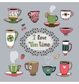 I Love Tea Time vector image vector image