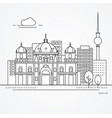 linear berlin germany flat one line style trendy vector image vector image