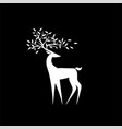 logo white deer vector image
