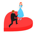 man propose to woman vector image vector image
