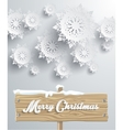 Merry Christmas Board Snowflake Background vector image