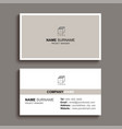 minimal business card print template design brown vector image