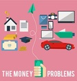 Money Problems vector image vector image
