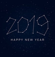 new-year-2019-stars-sky vector image vector image
