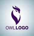 OWL LOGO 5 vector image vector image