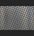 polished metal plate with geometric pattern vector image vector image