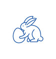 rabbit with eggs line icon concept rabbit with vector image
