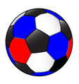 red white and blue football with white background vector image vector image