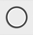 round photo frame vector image vector image