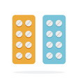 round tablets flat material design isolated vector image vector image