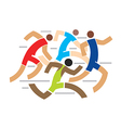 Runners competition vector image