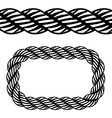 seamless black rope symbol vector image vector image