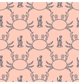 Seamless pattern with crabs and seaweed vector image vector image