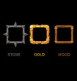 set upgrade square app icons texture vector image