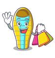 shopping sleeping bad character cartoon vector image