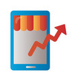 Smartphone with price hike arrow up infographic
