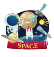 Space concept design vector image