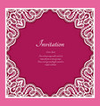 square frame with lace border ornament vector image vector image