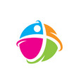 total healthy man logo vector image